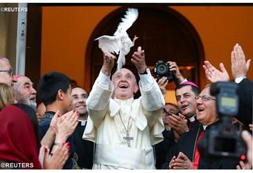 Dalla Georgia la preghiera del Papa per la pace in Siria e Iraq