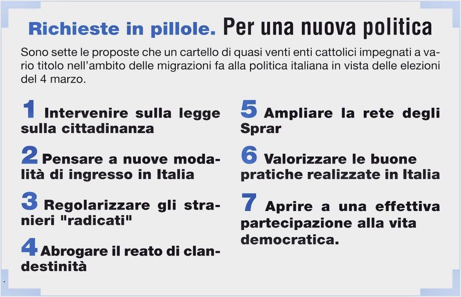 Una Nuova Agenda sulle Migrazioni in Italia